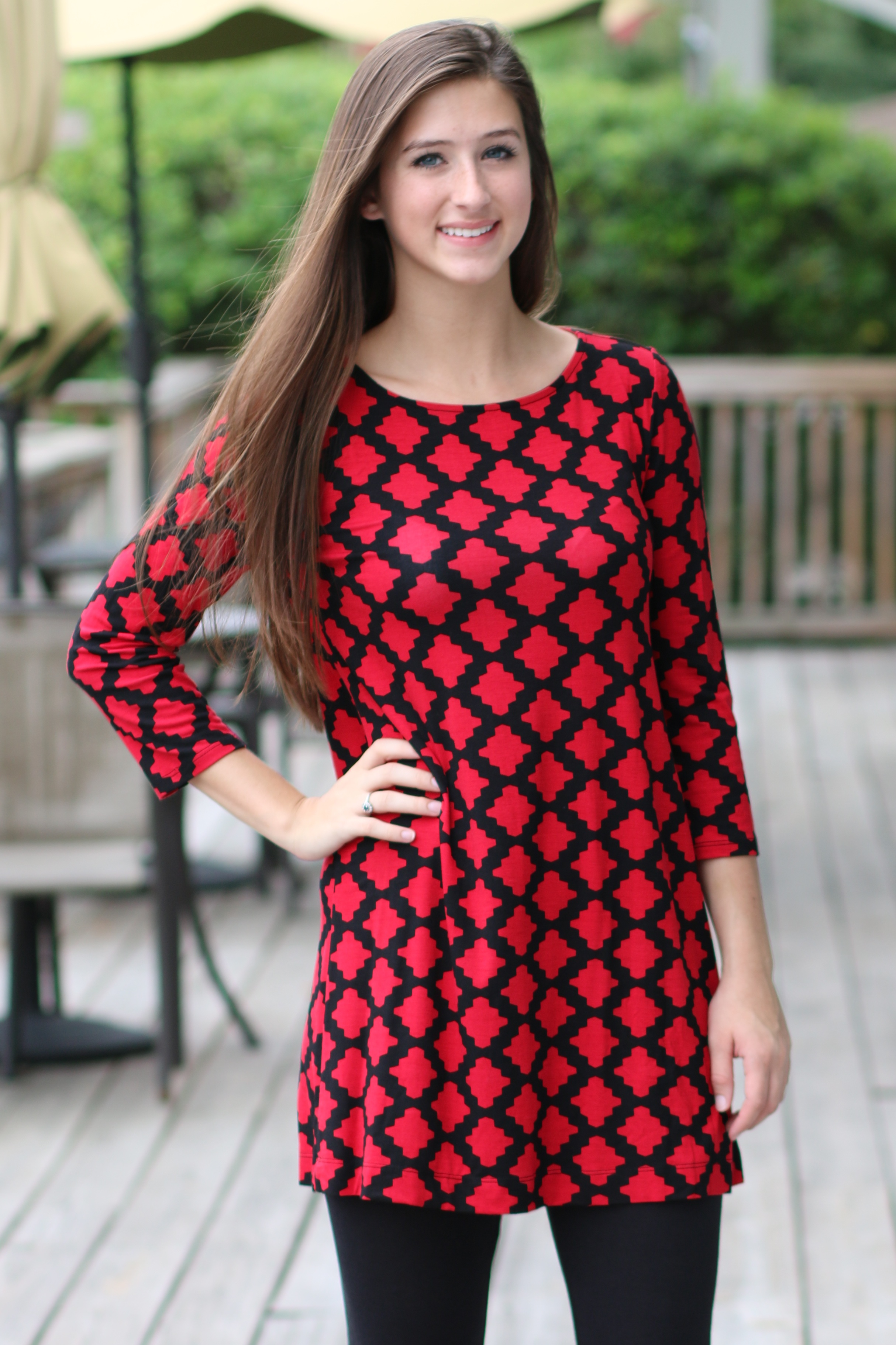 Red Tunic with Leggings