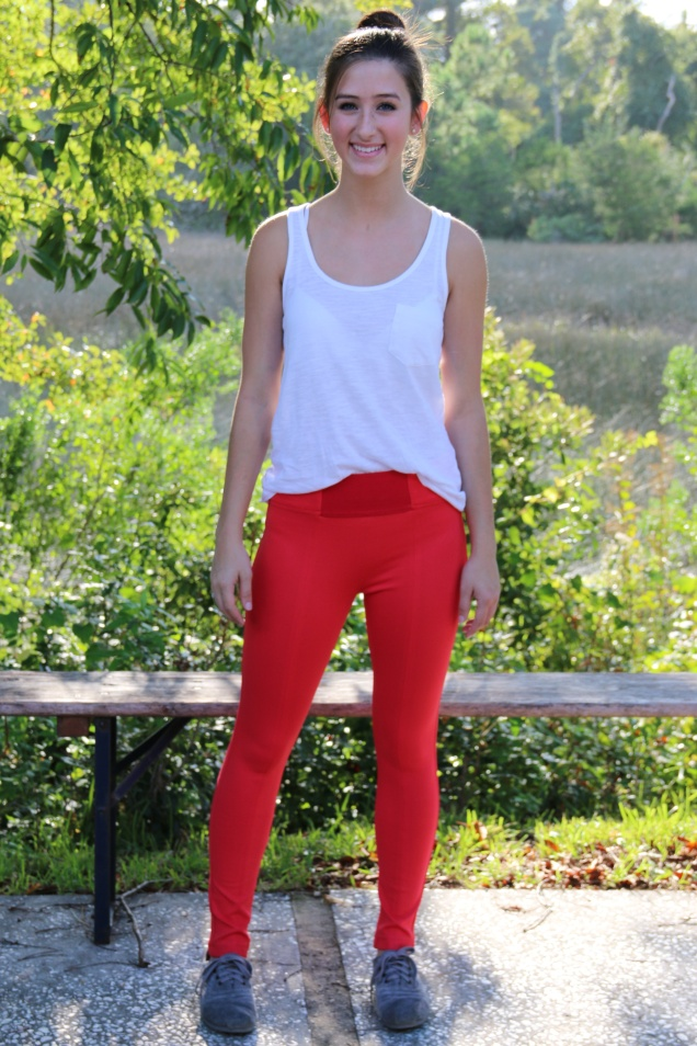 Wild Souls Bardot Pixie Pants Trousers in Coral Red