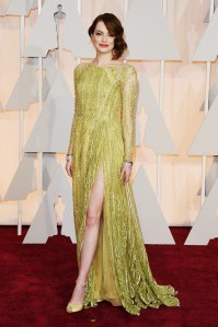 Emma Stone in Elie Saab at the 87th Annual Academy Awards // 2015 Oscars Red Carpet