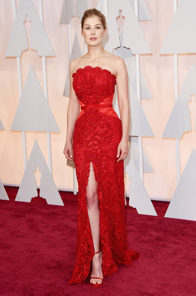 Rosamund Pike in Givenchy at the 87th Annual Academy Awards // 2015 Oscars Red Carpet