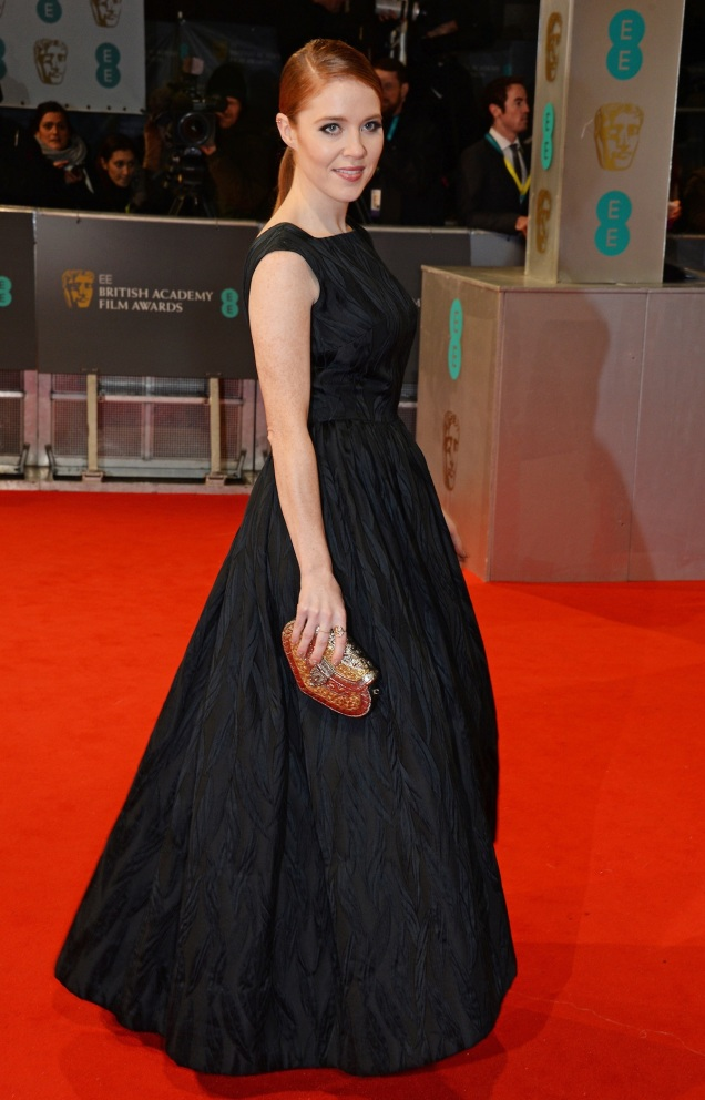 2015 BAFTAs Red Carpet: Angela Scanlon