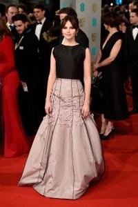 2015 BAFTAs Red Carpet Felicity Jones in Dior Haute Couture