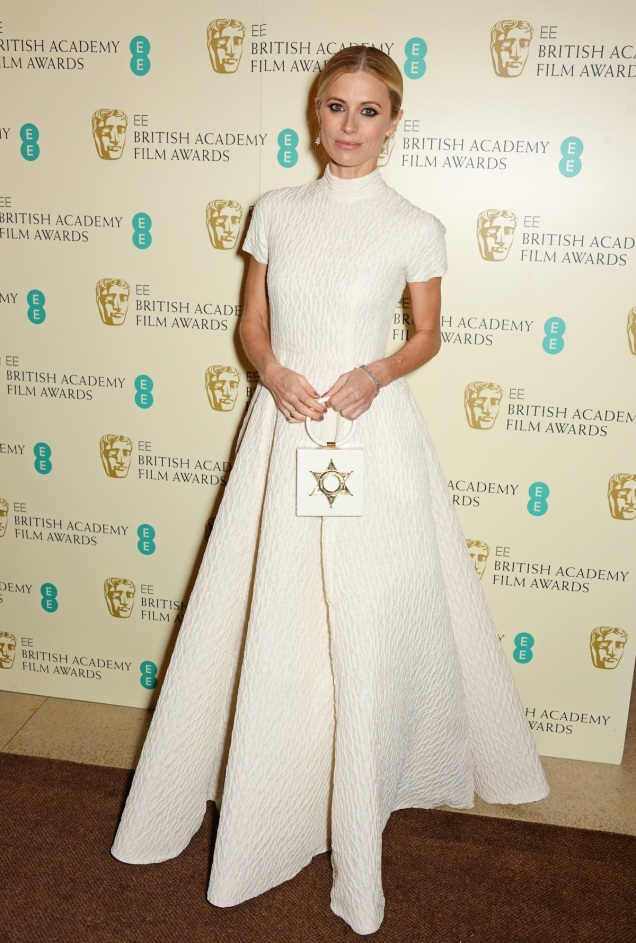 2015 BAFTAs Red Carpet Laura Bailey in Emilia Wickstead
