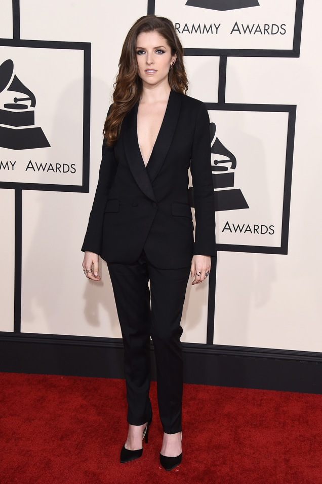 Anna Kendrick 2015 Grammy Red Carpet