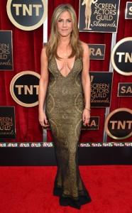 Jennifer Aniston in Vintage Galliano at the 2015 SAG Awards