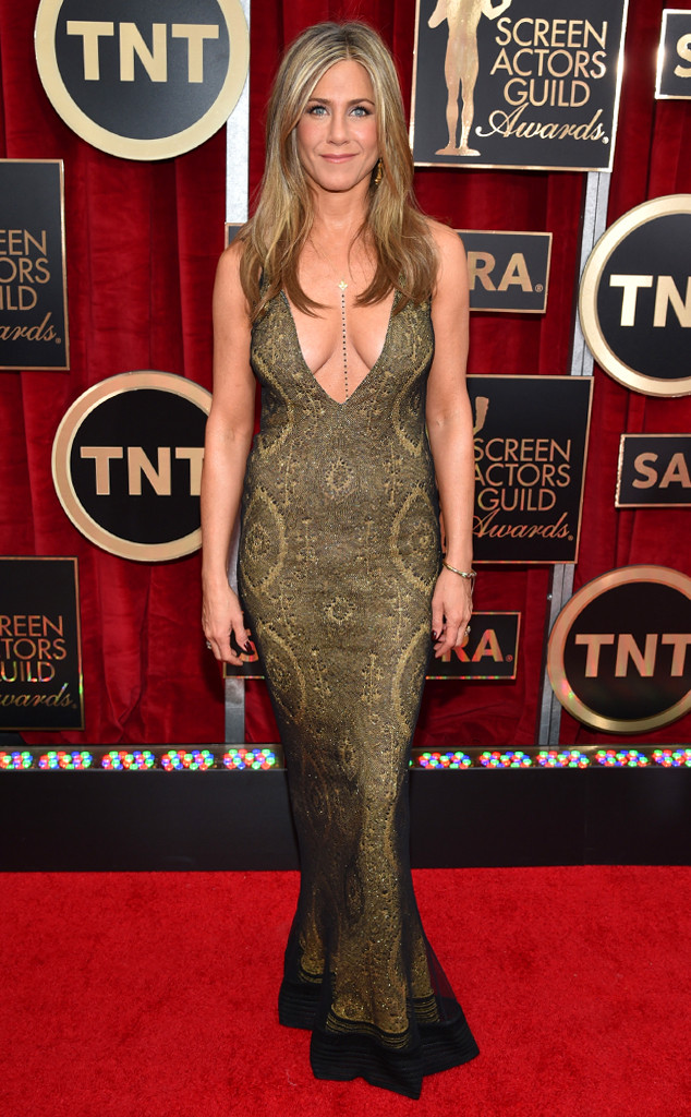 Jennifer Aniston in Vintage Galliano at the 2015 SAG Awards