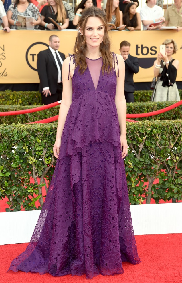 Keira Knightley in Erdem at the 2015 SAG Awards