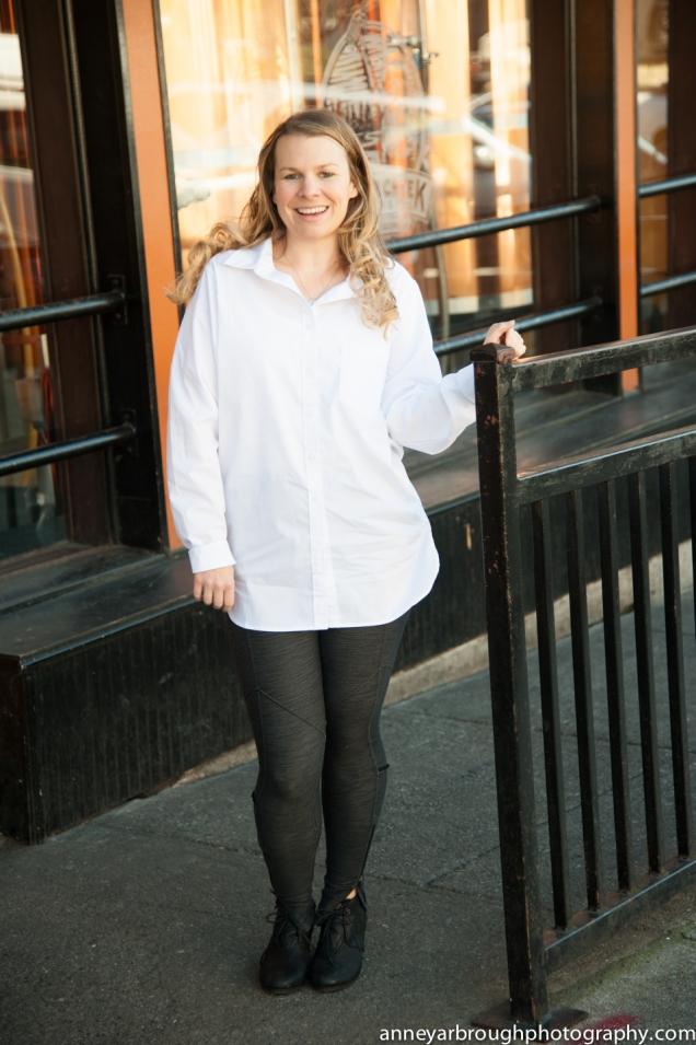 Wild Souls: White Boyfriend Button Down, Lululemon Riding Yoga Pants, Toms Black Wedges