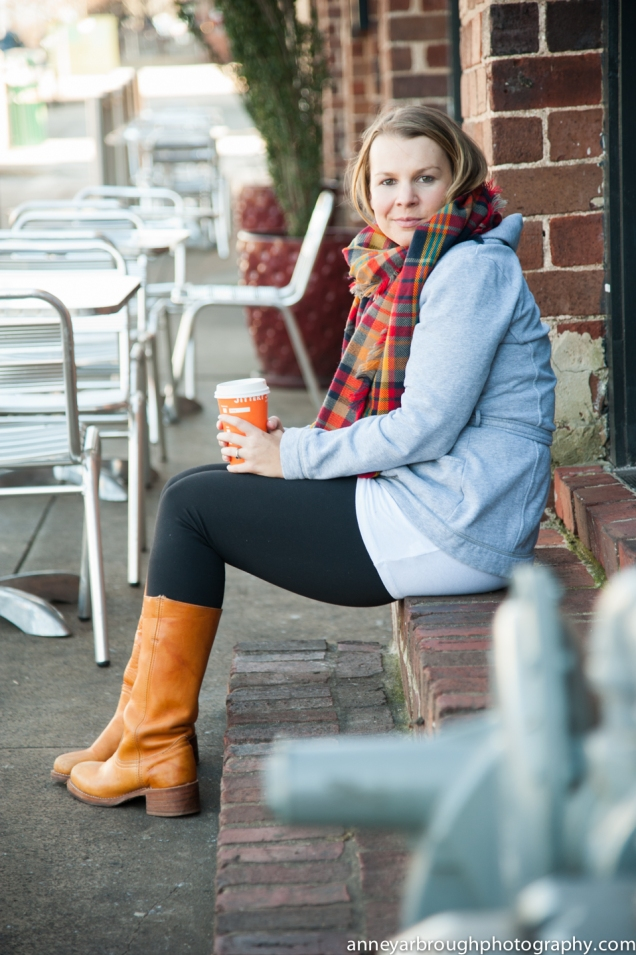 What I Wore Wild Souls: Blanket Scarf, Grey Wrap Cardigan, Pixie Pants, Frye Campus Boots // Jittery Joes' Coffee @ Trapeze Athens, GA
