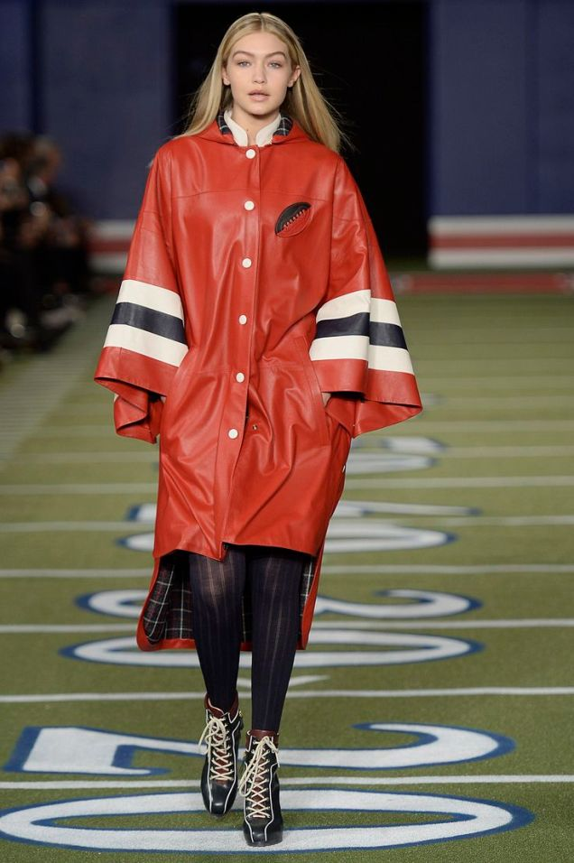 Gigi Hadid Tommy Hilfiger Runway  New York Fashion Week 2015