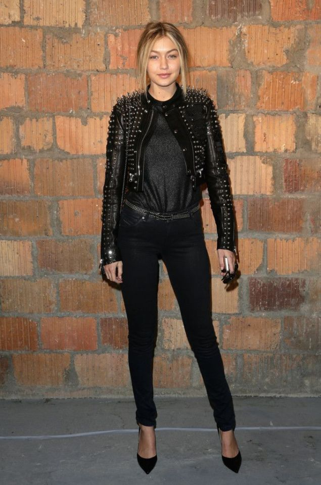 Gigi Hadid at the Diesel Show New York Fashion Week Fall 2015