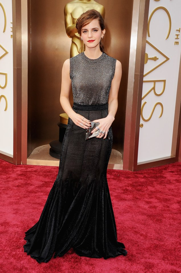 Emma Watson in Vera Wang at the 2014 Academy Awards
