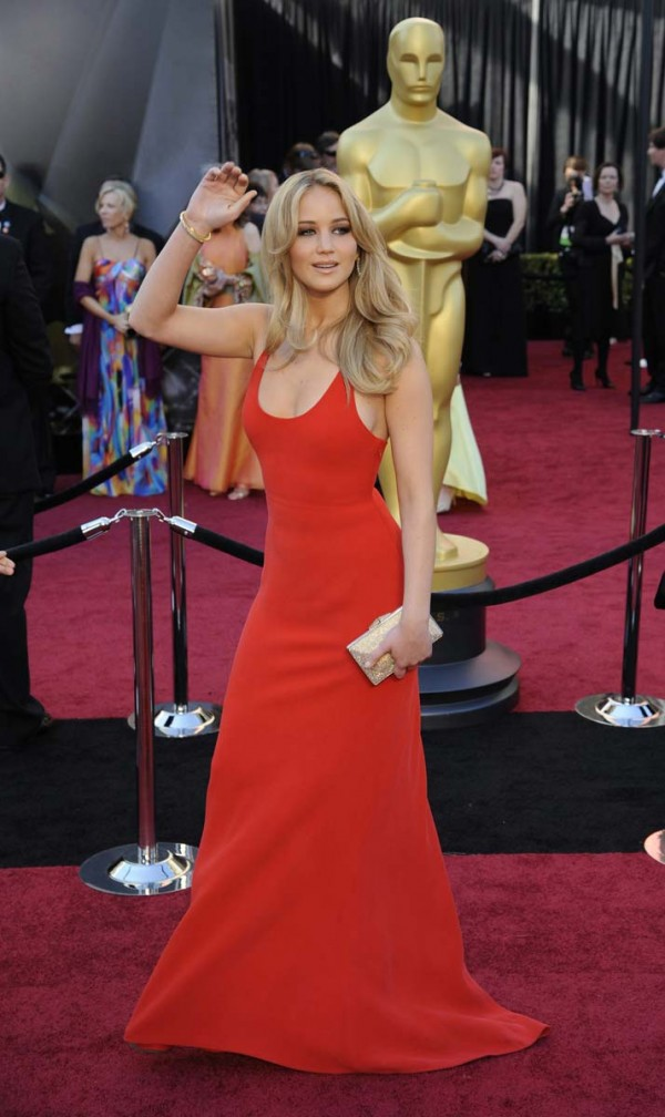 Jennifer Lawrence in Calvin Klein at the 2011 Academy Awards