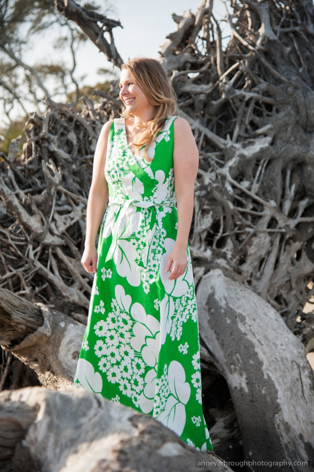 What I Wore: St. Patrick's Day - Green Floral Vintage Maxi Dress