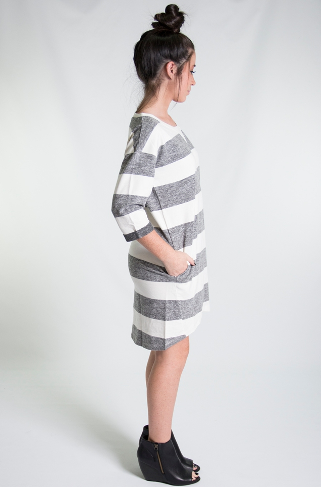 Wild Souls :: Wide Stripe Sweatshirt Dress :: www.shopwildsouls.com