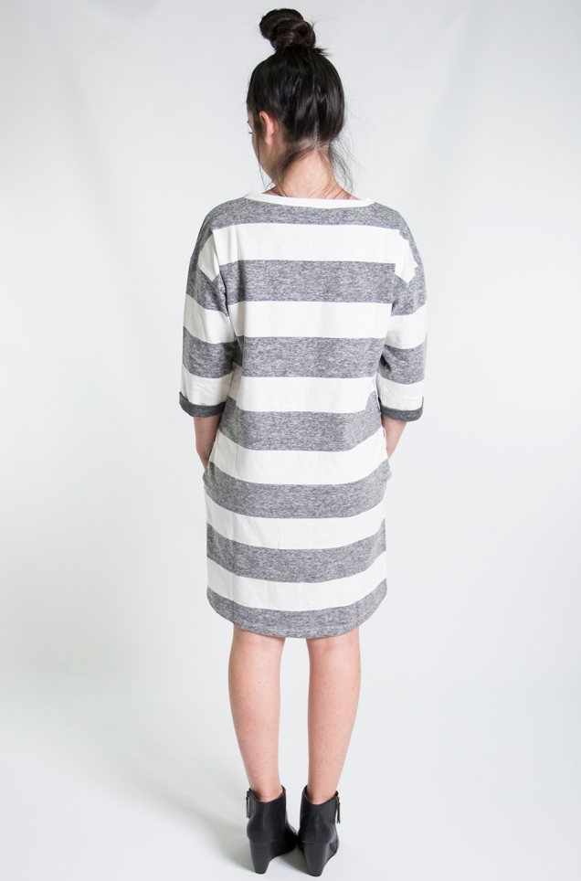 Wild Souls :: Wide Stripe Sweatshirt Dress :: www.shopwildsouls.com